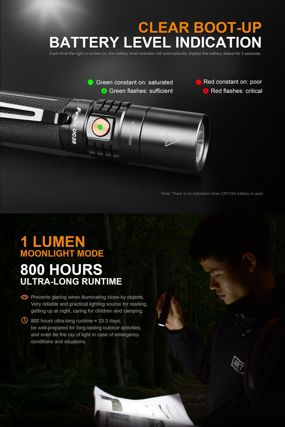 uc35 v2.0 rechargeable flashlight