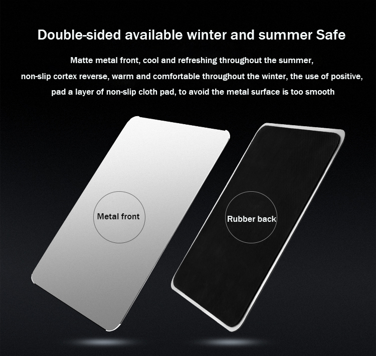 SeenDa IPS-12 Aluminum Alloy Mouse Pads for Office Luxury Simple Slim Matte