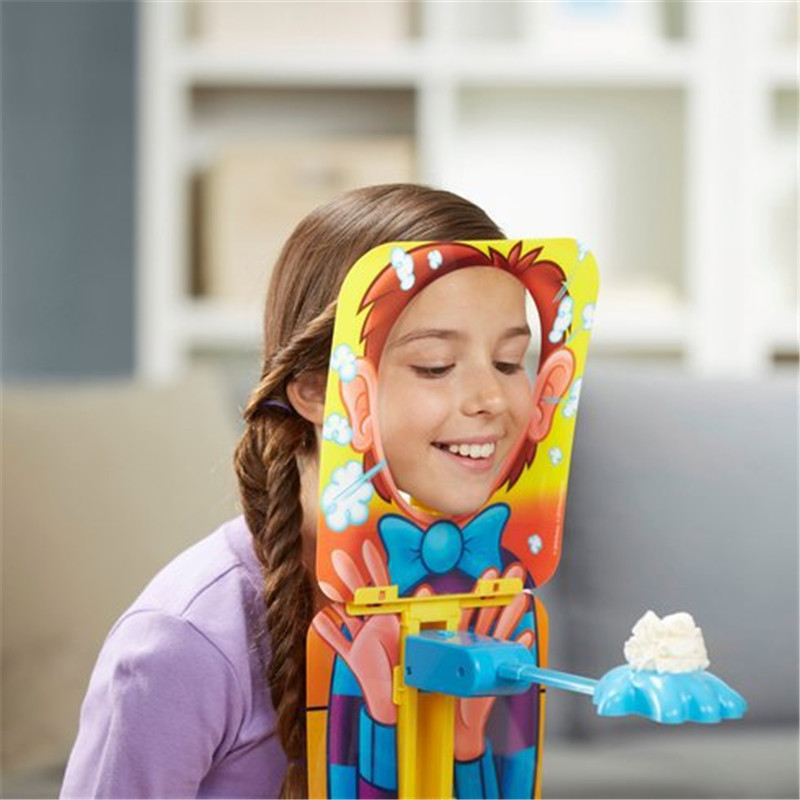 Upright Cheese Pie Face Toy for Interactive Games