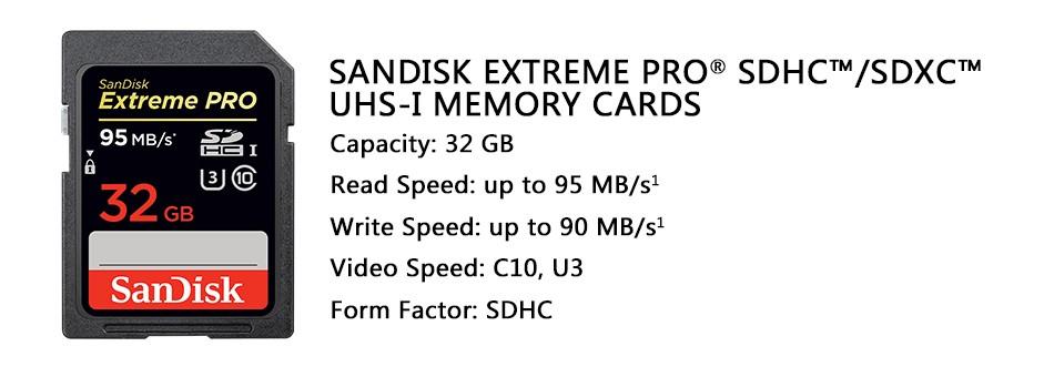 SanDisk Extreme Pro SDHC/SDXC UHS-I Memory Card