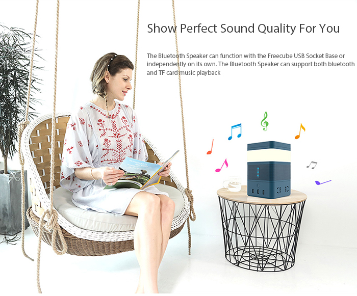 An integral part of the Freecube hub, the Bluetooth speaker module makes quality sound available on-the-go. Perfect for music, videos or and even conference calls.