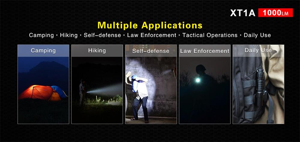 xt1a tactical led flashlight