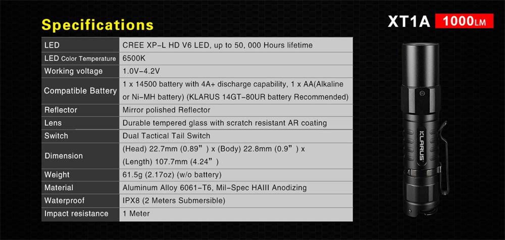 buy xt1a edc flashlight