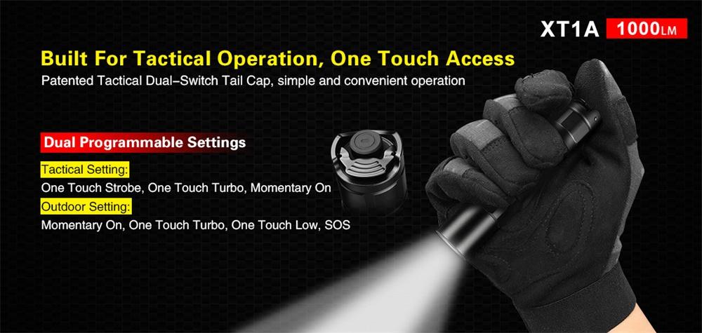 xt1a tactical flashlight