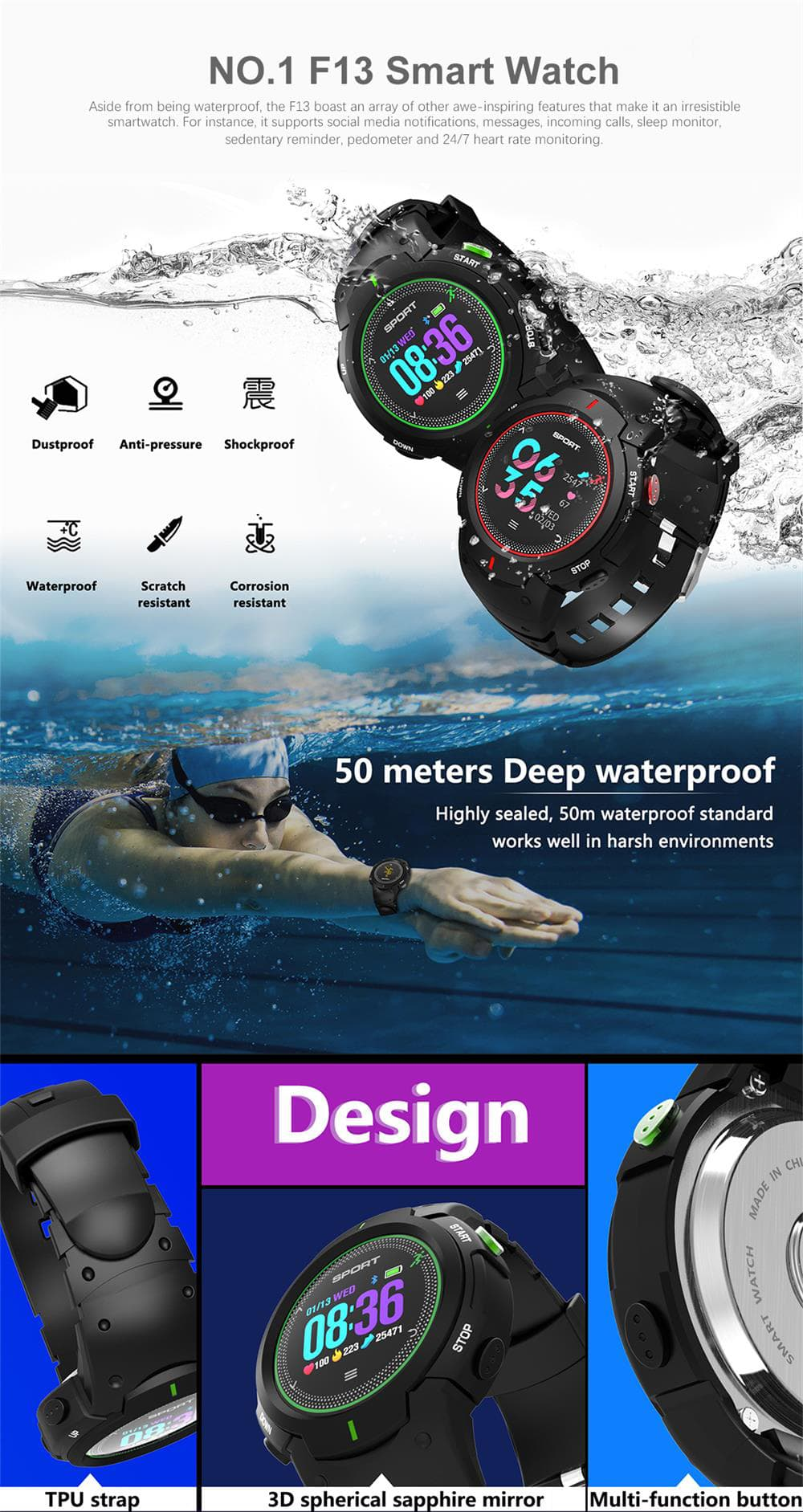 no.1 f13 smartwatch