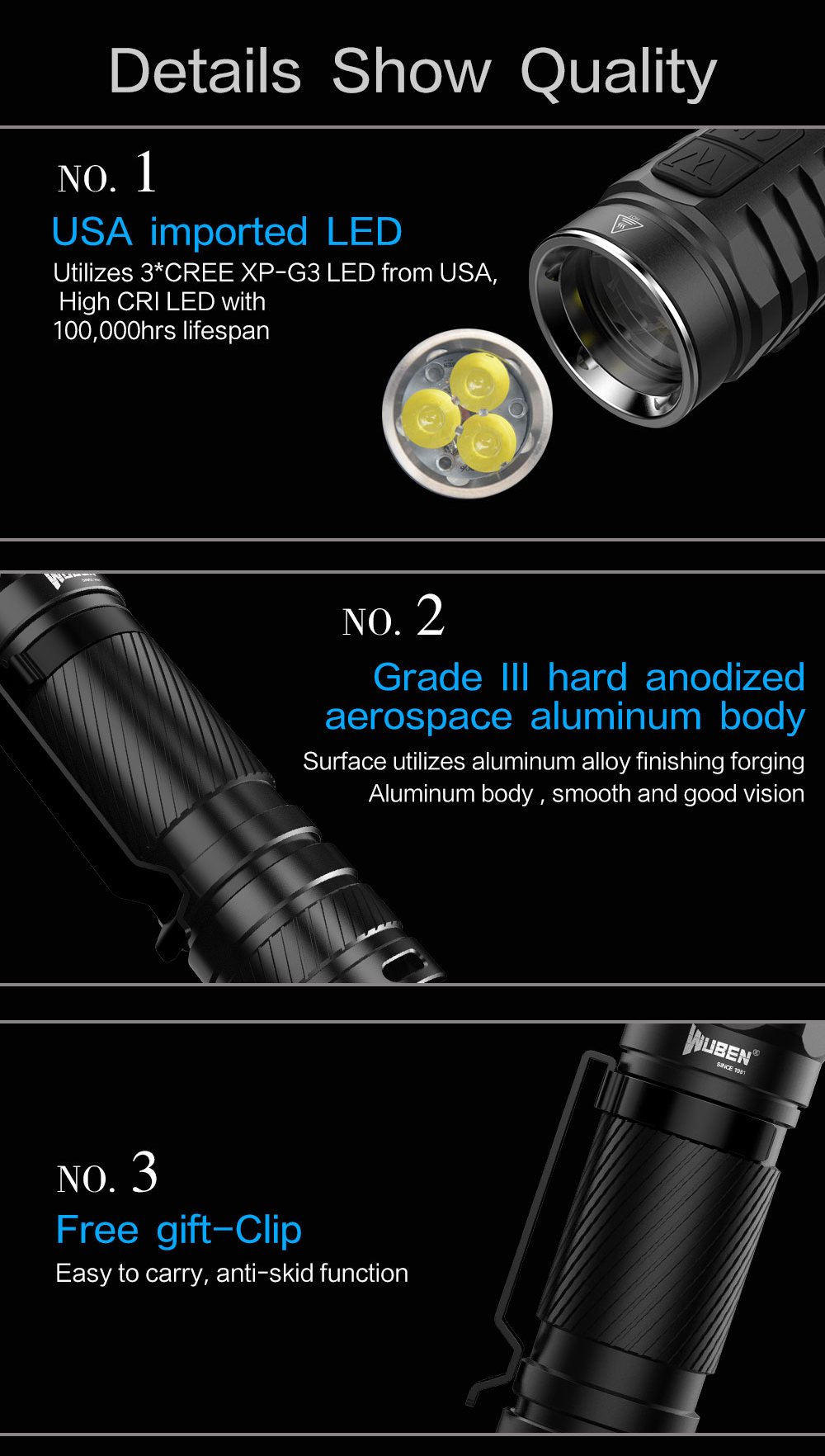 to46r rechargeable flashlight
