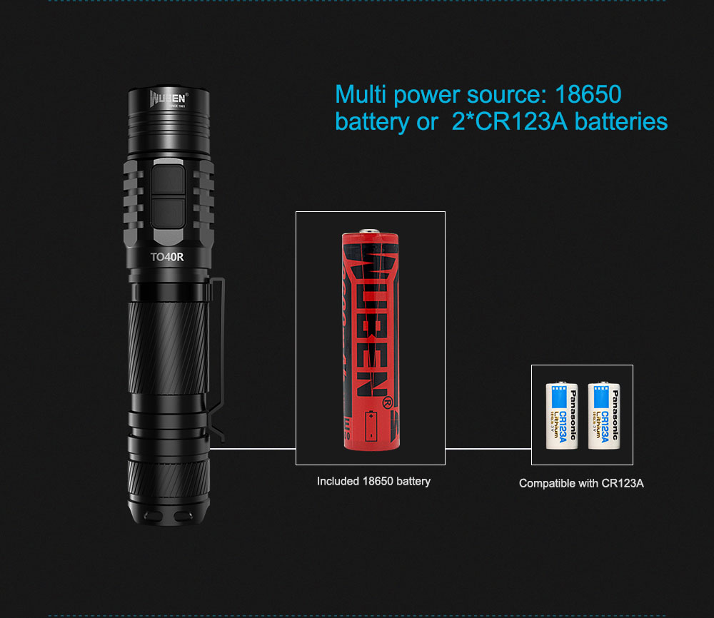 wuben to40r rechargeable flashlight