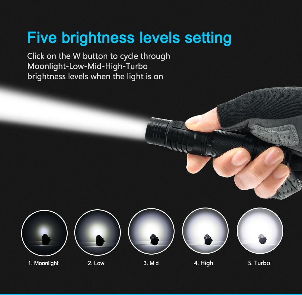wuben to40r led flashlight