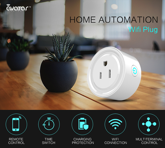 Avatar smart home WiFi plug for managing remotely