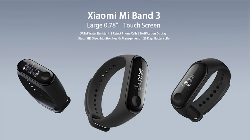 Xiaomi Mi Band 3 Smart Bracelet Wristband (International Version)