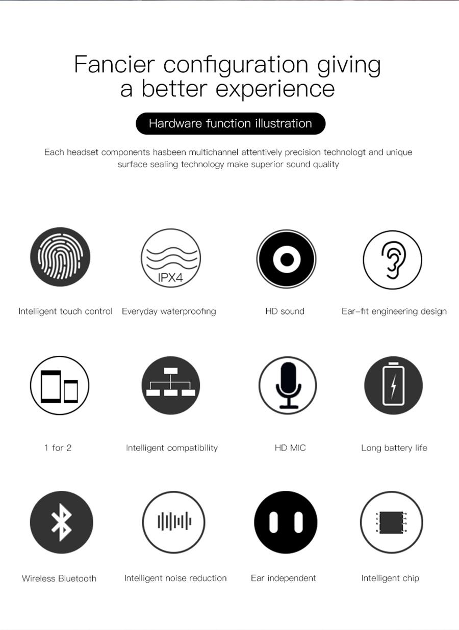 baseus w02 wireless earphone