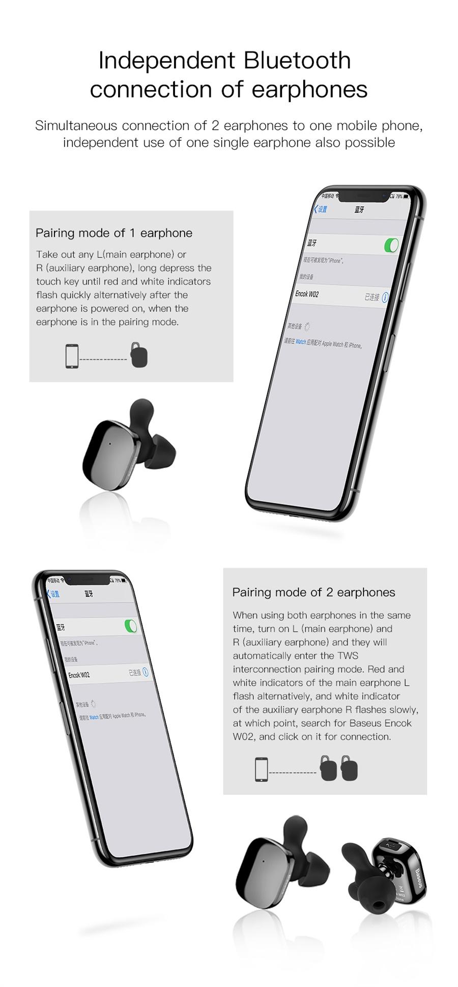 encok w02 earphone