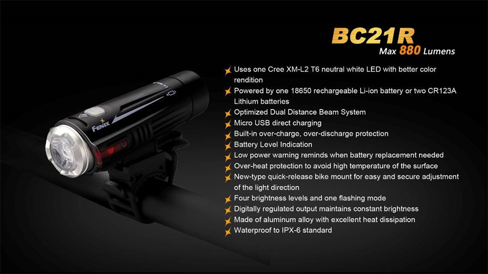 bc21r rechargeable bike light
