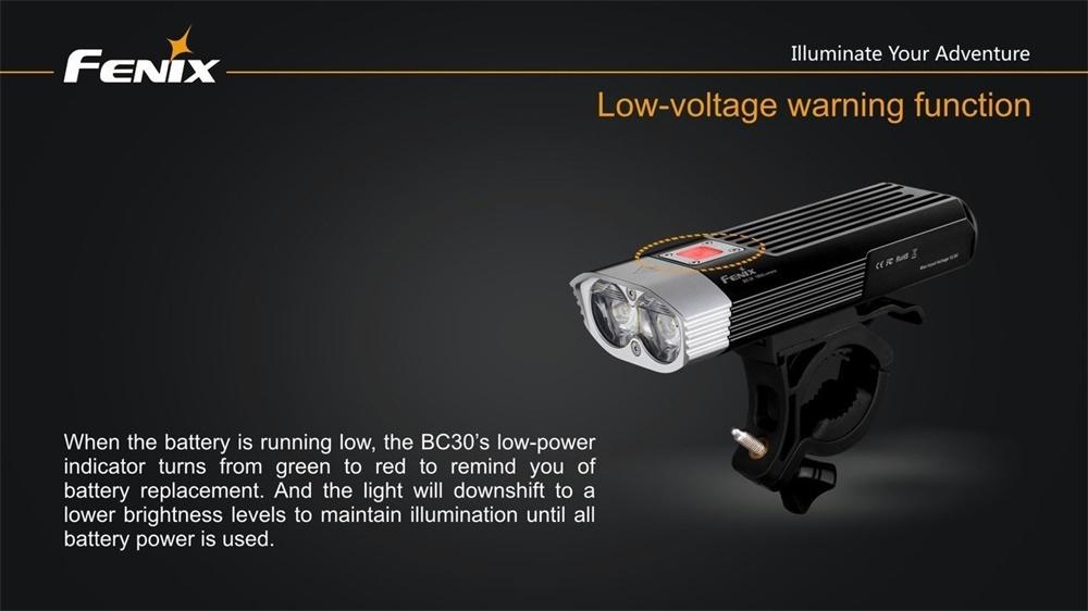fenix bc30 flashlight
