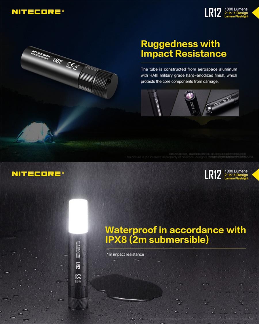 nitecore lr12 camping light