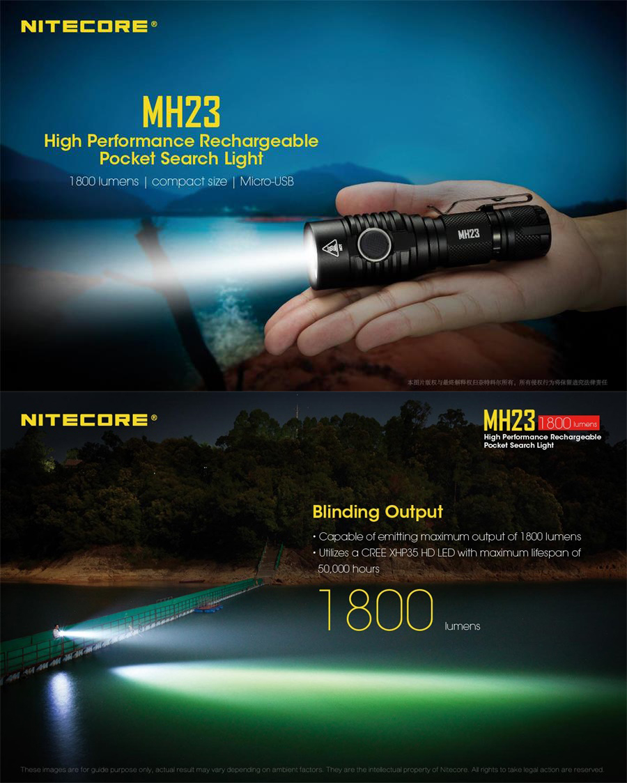nitecore mh23 flashlight