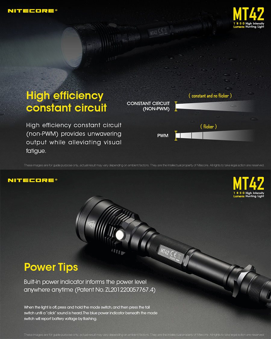 mt42 1800 lumen flashlight