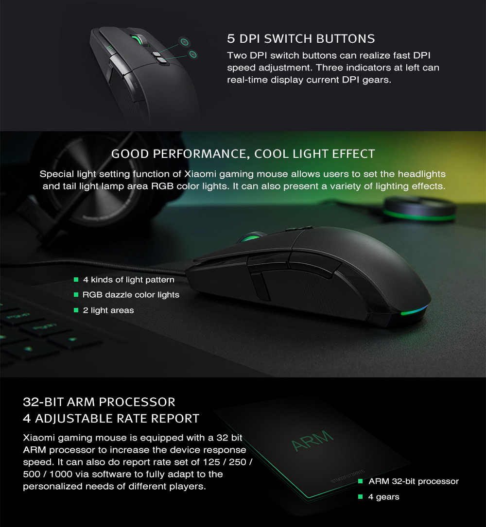 xiaomi wired gaming mouse