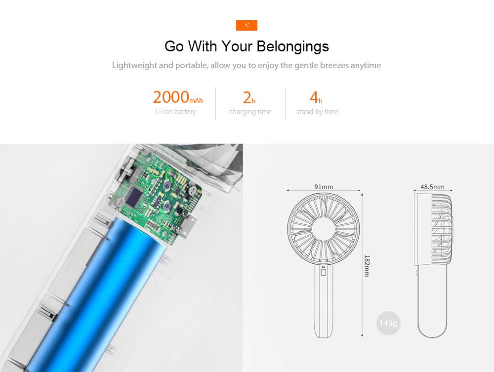xiaomi travel portable fan