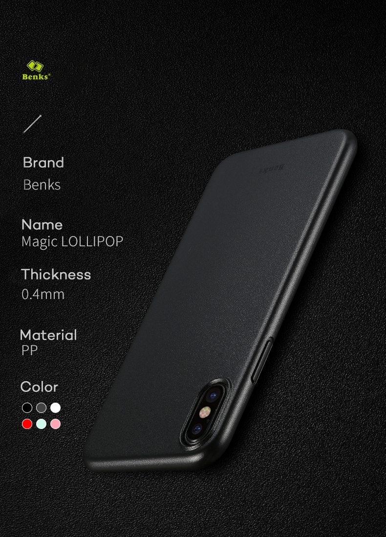 BENKS PP Matte Anti-fingerprint Case for iPhone X