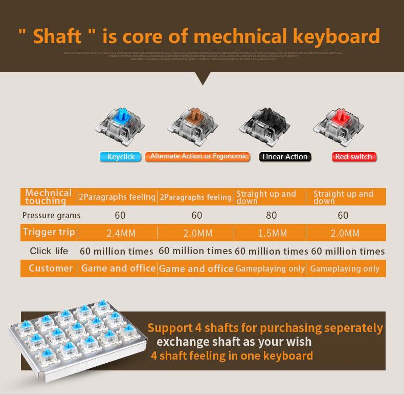 hand holding gaming keyboard