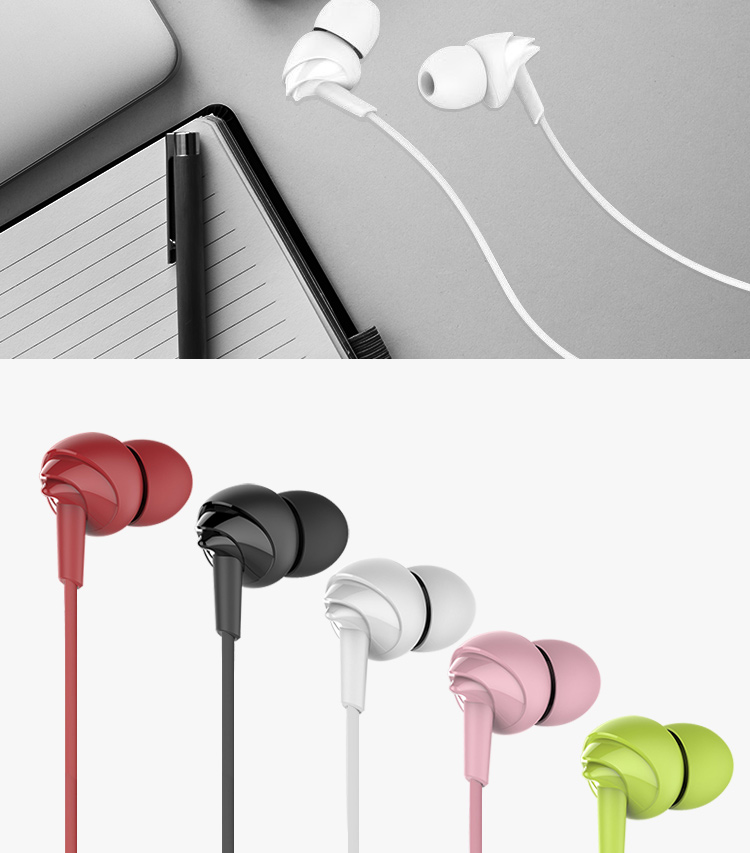 UiiSii C200 Wired Sports Earphones with Microphone for iPhone Samsung Xiaomi Phone