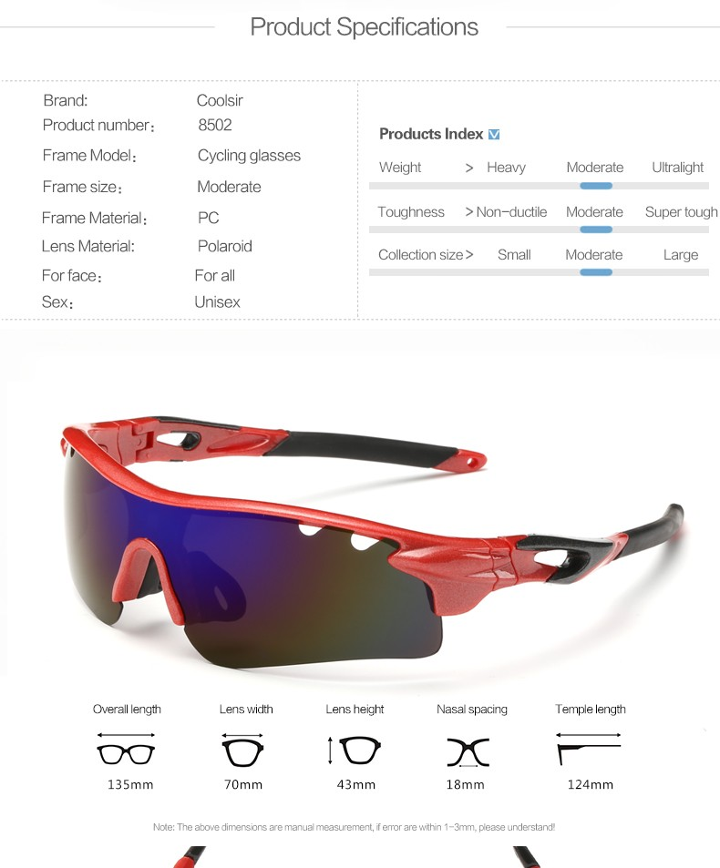 Coolsir C-8502 Polarized Sports Sunglasses for Men