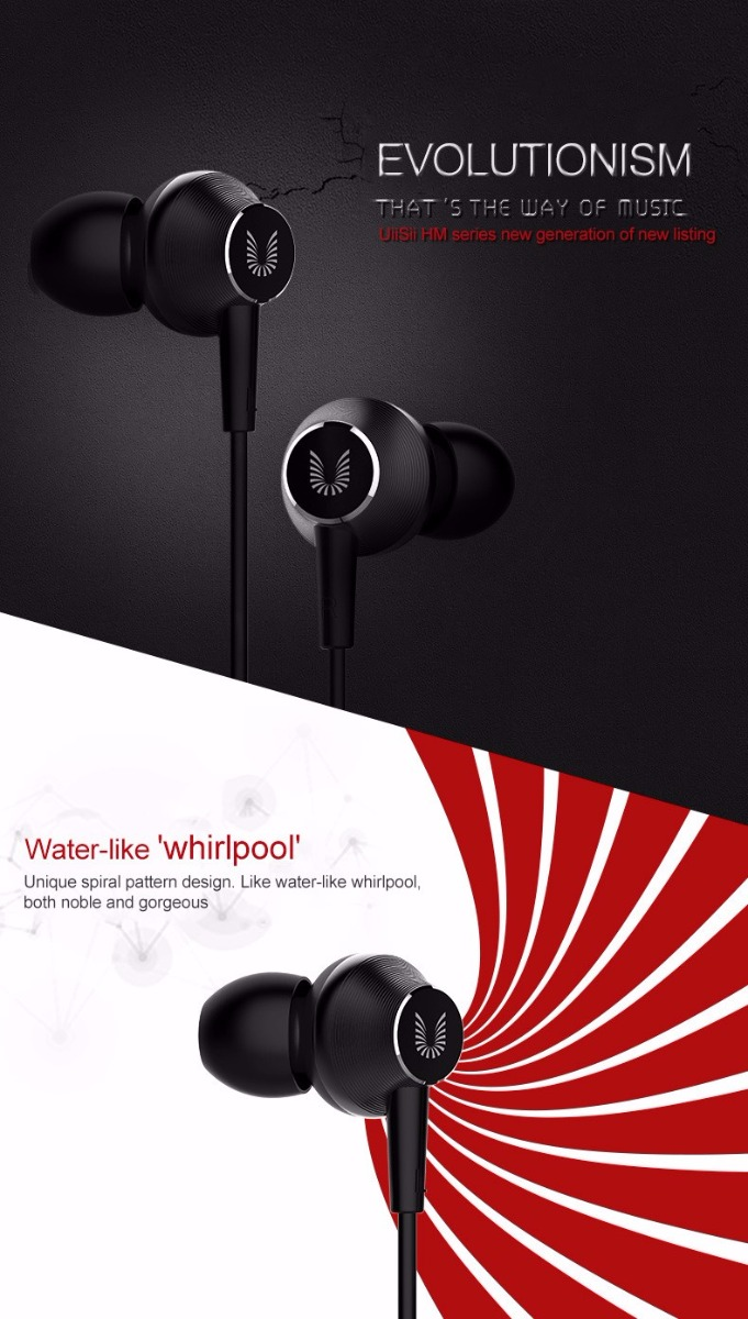 UiiSii HM8 In-ear Headphone with Microphone for iphone 6s 5s Xiaomi