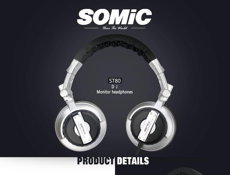 Somic ST-80 New Folded Stereo Headphone HiFi Musical Headphone Bass