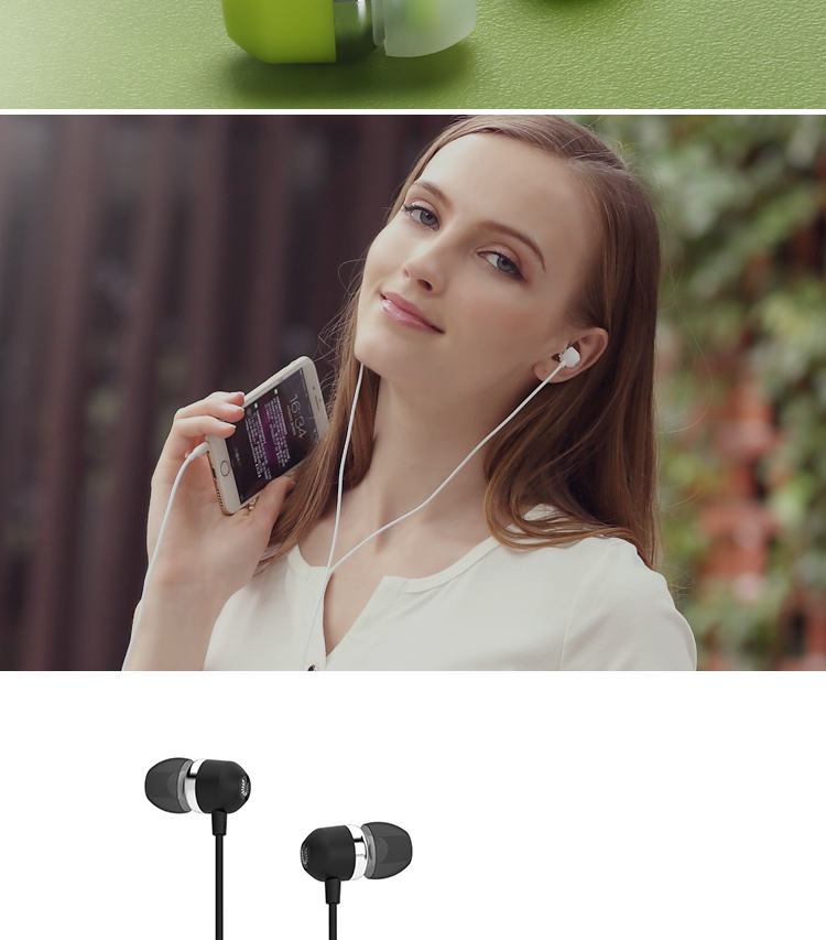 Uiisii U3 Noise Isolating Earphones for iPhone 5 6s Xiaomi MP3