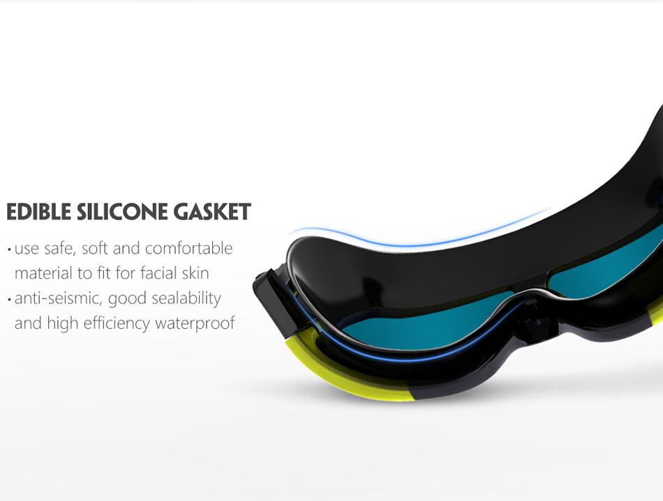 COPOZZ UV Anti-Fog Swimming Goggles Comfortable Silicone Large Frame